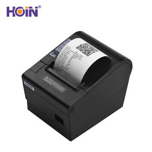 Hoin 80mm Usb Thermal Receipt Pos Printer Auto Cutter High Speed Printer S5b1