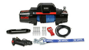 Anvil 12 000 Lbs Winch W Synthetic Rope Aluminum Fairlead