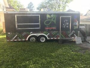 Ready To Cook 2000 7 X 20 Used Mobile Kitchen Food Concession Trailer For Sa