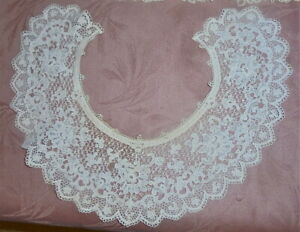 Fine Antique Lace Collars Lot Of 3 Wedding