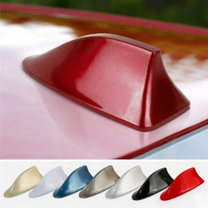 Universal Red Shark Fin Roof Antenna For Car Radio Fm Am Signal Aerial Decor