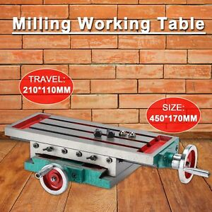 Milling Compound Work Table Machine Cross Slide Bench Drill Press Vise Fixture