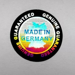 Made In Germany Labels Hologram Sticker Warranty Void If Removed Tamper Proof