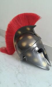 Medieval Corinthian Antique Armor Helmet Greek Spartan Knight Crusader Replica