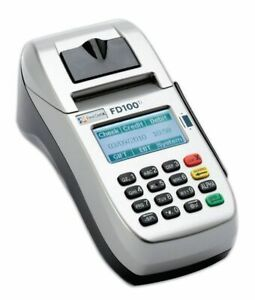First Data Fd100 Ti Dial ip Credit Card Machine Great Condition
