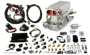 Avenger Efi Stealth Ram Mpfi Fuel Injection System Satin Small Block Chevy