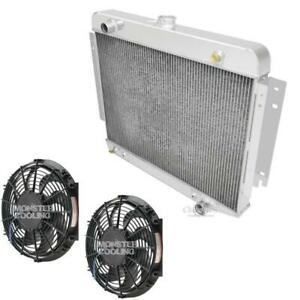 1972 Dodge Pickup Truck Radiator Dual 12 Electric Fans Aluminum 3 Row