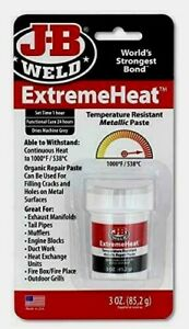 Jb Weld Extreme Heat Temperature Resistant Metallic Paste Automotive Repair 3oz