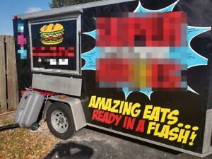 8 X 13 Food Concession Trailer For Sale In Florida