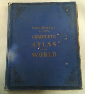 Antique Map Book Rand Mcnally Co Complete Atlas Of The World Ww1 Era 1917