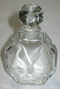 Vintage Ciro Reflections Baccarat Glass Perfume Bottle Empty 4 Height