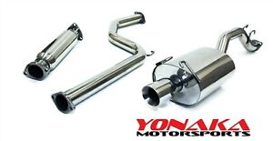 Yonaka 2006 2011 Honda Civic 4dr Si Sedan Stainless Steel Catback Exhaust System