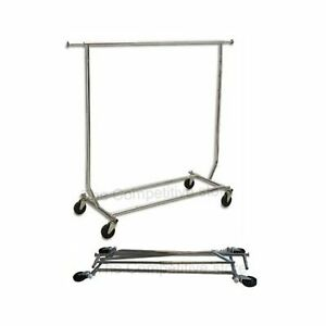 Collapsible folding Rolling Clothing Garment Rack Salesman s Rack 1 pack