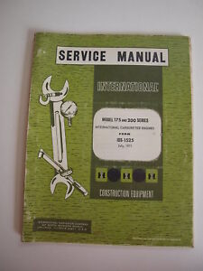 Ih International 2400 2500 2544 34 3500 3514 Tractor 175 200 Engine Shop Manual
