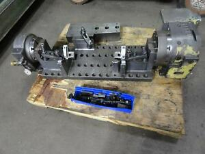 2010 Nikken Cnc 250l Rotary Table 4th Axis W Tat 200 Support Trunnion Cnc Vmc