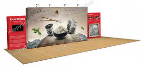 Trade Show Fabric Tension Pop up Booth 30 Ft Exhibition Graphic Included