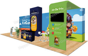 Trade Show Waveline Pop up 30ft X 10ft Fabric Exhibition Booth Xy 02