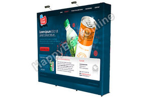 Trade Show Fabric Tension Pop up Booth With Graphics10ft