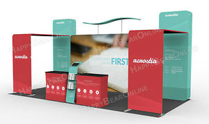 Trade Show Waveline 20ft X 20ft Fabric Exhibition Booth With Graphic 2020 05