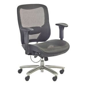 Safco Lineage Big N Tall Mesh Task Chair 3505bl 400 Lb Capacity Black