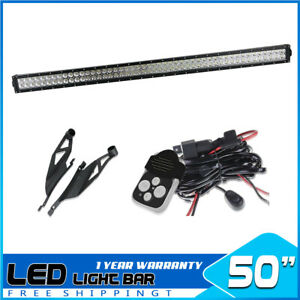 50inch 288w Led Work Light Bar Combo Offroad For 4wd Suv Tundra sequoia 52 48