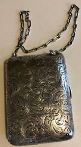 Vintage Sterling Silver Coin Purse Compact Nice 108 4 Gr 3 3 4 X 2 3 4