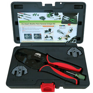 Weather Pack Terminal Crimping Kit Release Tool Weatherpack Connector Crimper