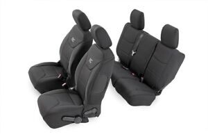 Rough Country F R Neoprene Seat Covers For 13 18 Jeep Wrangler Jku 4dr 91004