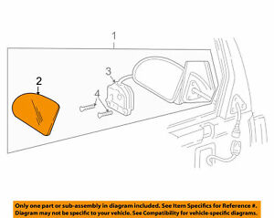 Gm 12457580 Genuine Oem Trans Sport Silhouette Front Right Door Outside Mirror