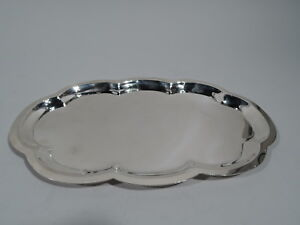Poole Tray 33 Midcentury Modern Multifoil Shaped American Sterling Silver