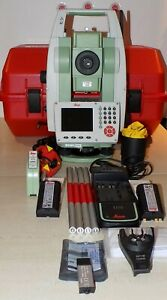 Leica Total Station Ts09 Plus R500 Calibrated Free Shipping Worldwide