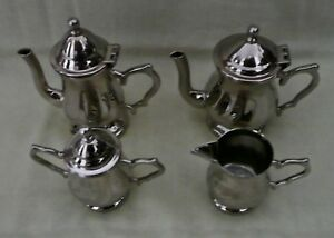 Vintage Godinger Silver Art Ltd Silverplate Miniature 5 Piece Tea Coffee Set