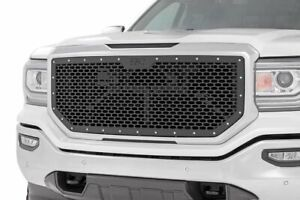 Rough Country Custom Black Mesh Grille Fits 2016 2018 Gmc Sierra 1500
