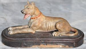 Cold Painted Great Dane Bronze Austrian Vienna Small Door Stop