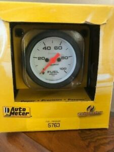 Auto Meter Phantom Series Fuel Pressure Gauge 5763 0 100 Psi