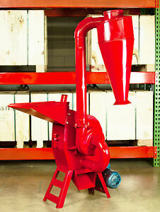 Hammer Mill Feed Grinder 5hp 220v 1ph Electric Powered Usa In stock W support