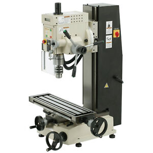 Shop Fox M1111 Variable Speed 6 inch By 21 inch Dovetail Mill drill Column X3