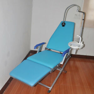 Portable Dental Folding Chair Unit water Supply led Light spittoon Gm c005