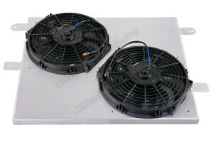 Cxracing Aluminum Radiator Shroud 12 Electrical Fans For 05 14 Ford Mustang