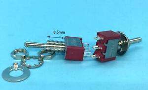 100pcs 6 2mm Momentary Mini Toggle Switches on off on 3 Pin 3a 250v 5a 125v