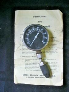 Vintage Sears Compression Tester