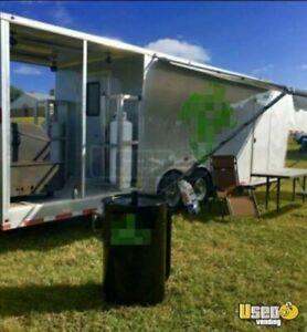 2016 8 X 36 Bbq Concession Trailer With Porch For Sale In Texas