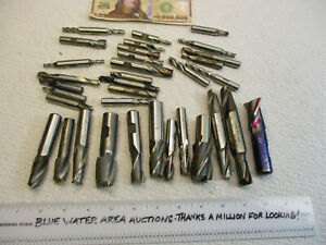 Lot 34 High Speed Steel End Mills Sharp Ready For Use Top Names Styles