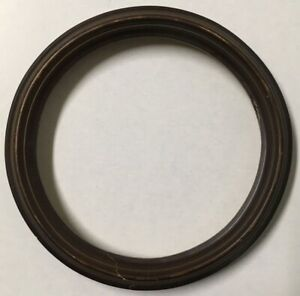 Vintage Decorative 7in Round Antique Wood Picture Frame Fits 6 In Art Photo X68a