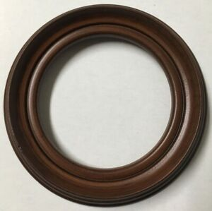Vintage Decorative 6 In Round Antique Replicawood Picture Frame Usa Made X84b