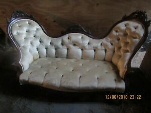 Vintage Victorian Carved Late 19th Century Sofa