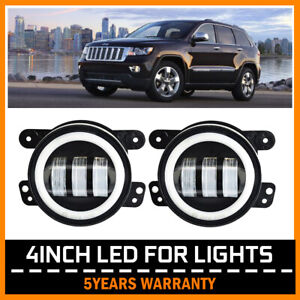 4 Inch Cree Led Halo Fog Light Drl Offroad For 2011 2012 Jeep Grand Cherokee