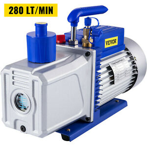 12cfm 2 Stages 1hp Refrigerant Vacuum Pump Ac Conditioning 110v 60hz 1400 Rpm