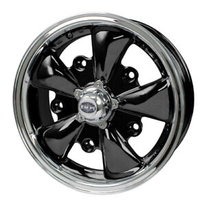 Gt 5 Wheel Black With Polished Lip 5 5 Wide 5 On 112mm Dunebuggy Vw