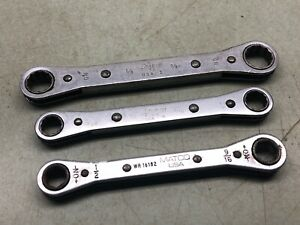 Snap On Tools Sae Ratcheting Wrench Lot W Matco Made In Usa